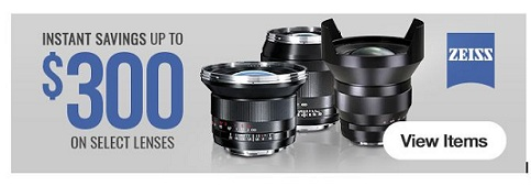 Save Up To $300 On ZEISS Lenses at B&H!!