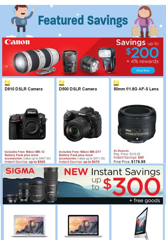 B&H Photo Pre-Black Friday Specials - Featured Categories & Products